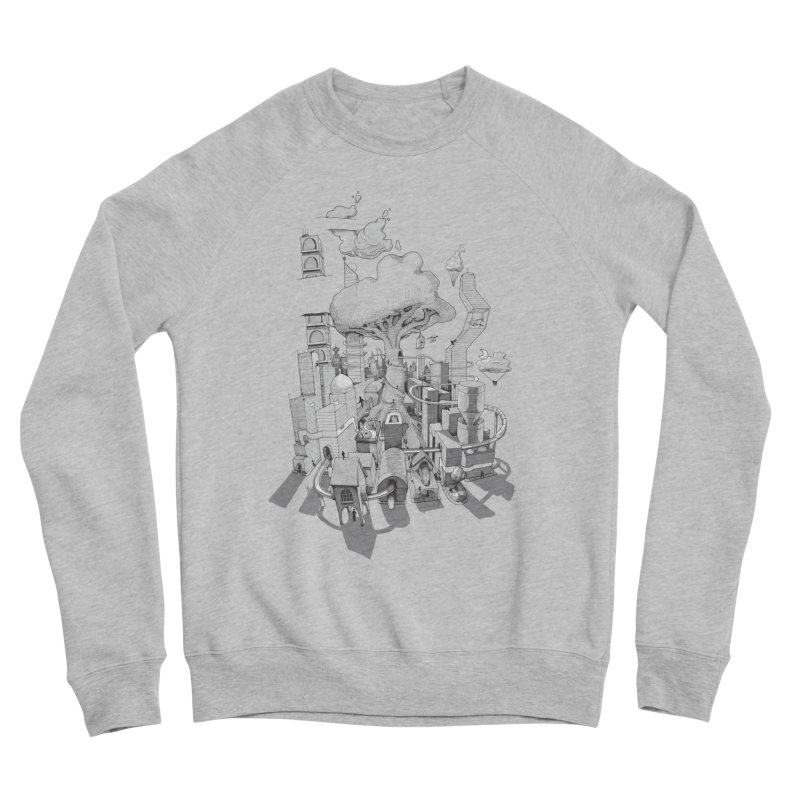Impossible City Men's Sponge Fleece Sweatshirt by Made With Awesome