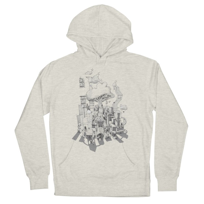 Impossible City Men's French Terry Pullover Hoody by Made With Awesome
