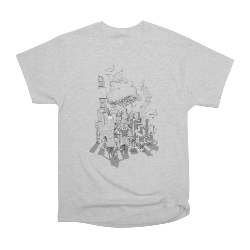 Impossible City Men's Heavyweight T-Shirt by Made With Awesome