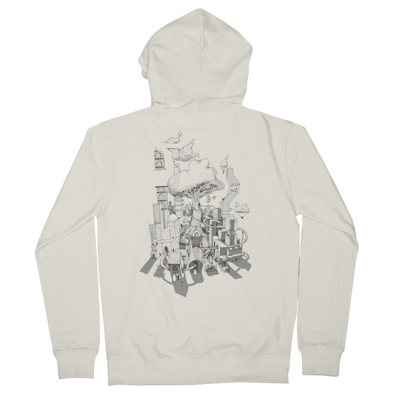 Impossible City Women's French Terry Zip-Up Hoody by Made With Awesome