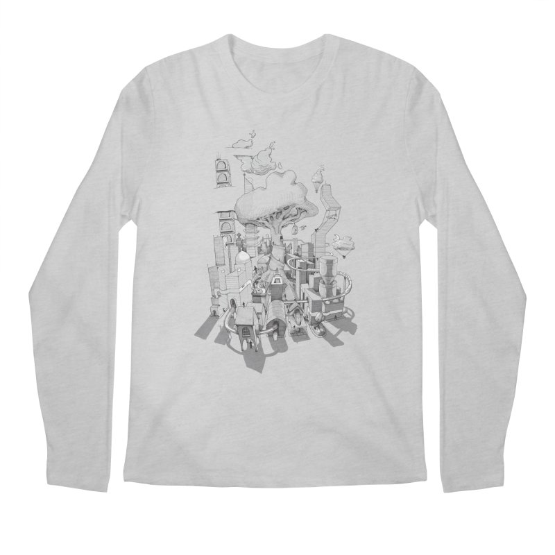 Impossible City Men's Regular Longsleeve T-Shirt by Made With Awesome