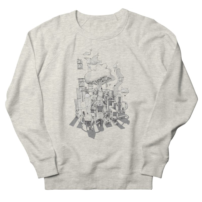 Impossible City Men's French Terry Sweatshirt by Made With Awesome