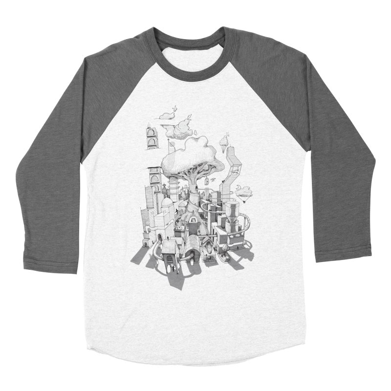 Impossible City Men's Baseball Triblend Longsleeve T-Shirt by Made With Awesome