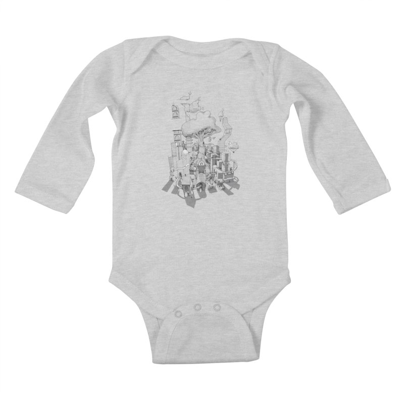 Impossible City Kids Baby Longsleeve Bodysuit by Made With Awesome
