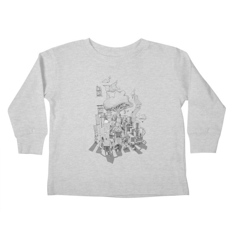 Impossible City Kids Toddler Longsleeve T-Shirt by Made With Awesome