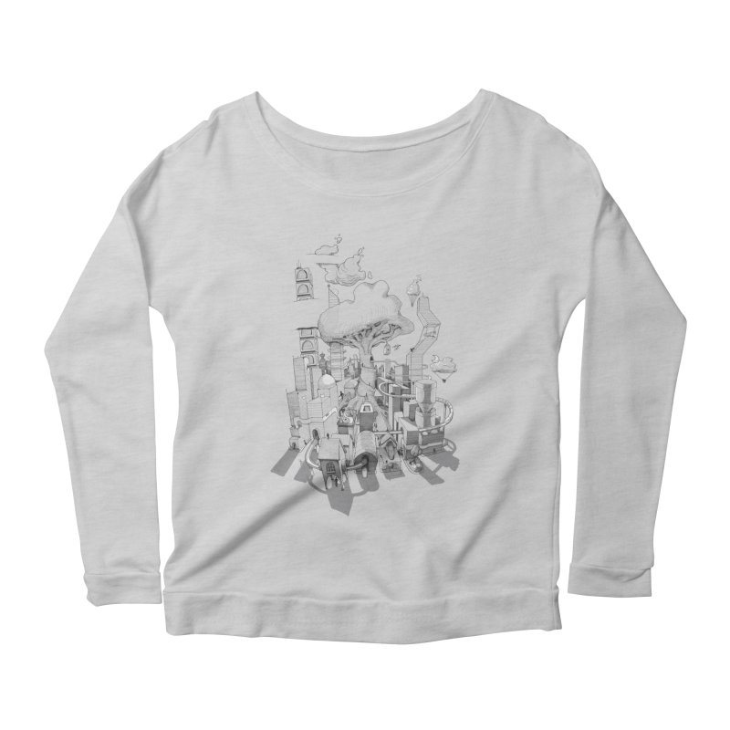 Impossible City Women's Scoop Neck Longsleeve T-Shirt by Made With Awesome