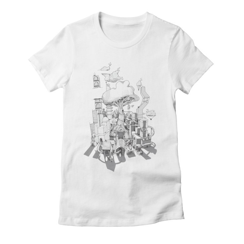 Impossible City Women's Fitted T-Shirt by Made With Awesome