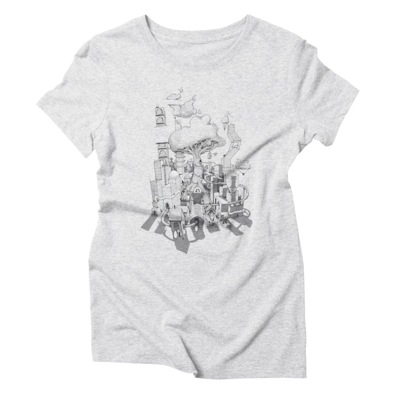 Impossible City Women's Triblend T-Shirt by Made With Awesome
