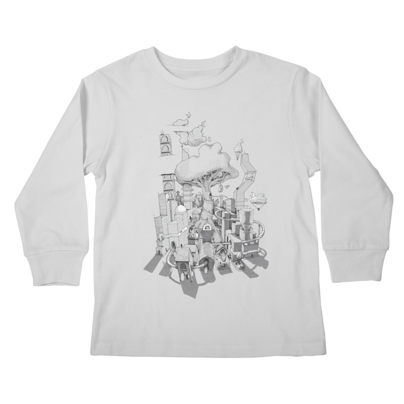 Impossible City Kids Longsleeve T-Shirt by Made With Awesome