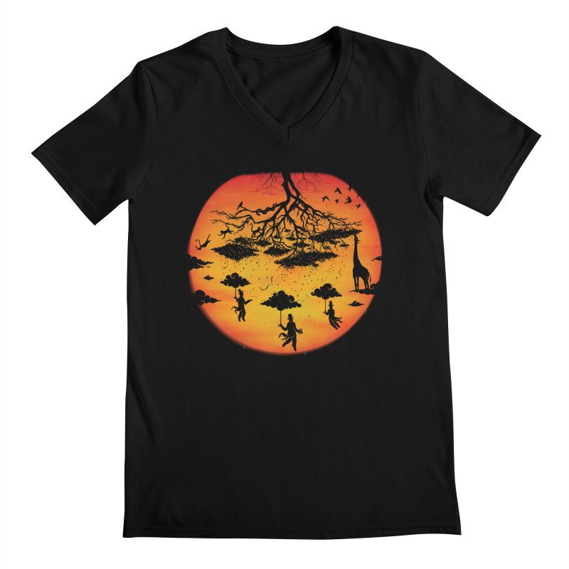 Sees The Day Men's Regular V-Neck by Made With Awesome
