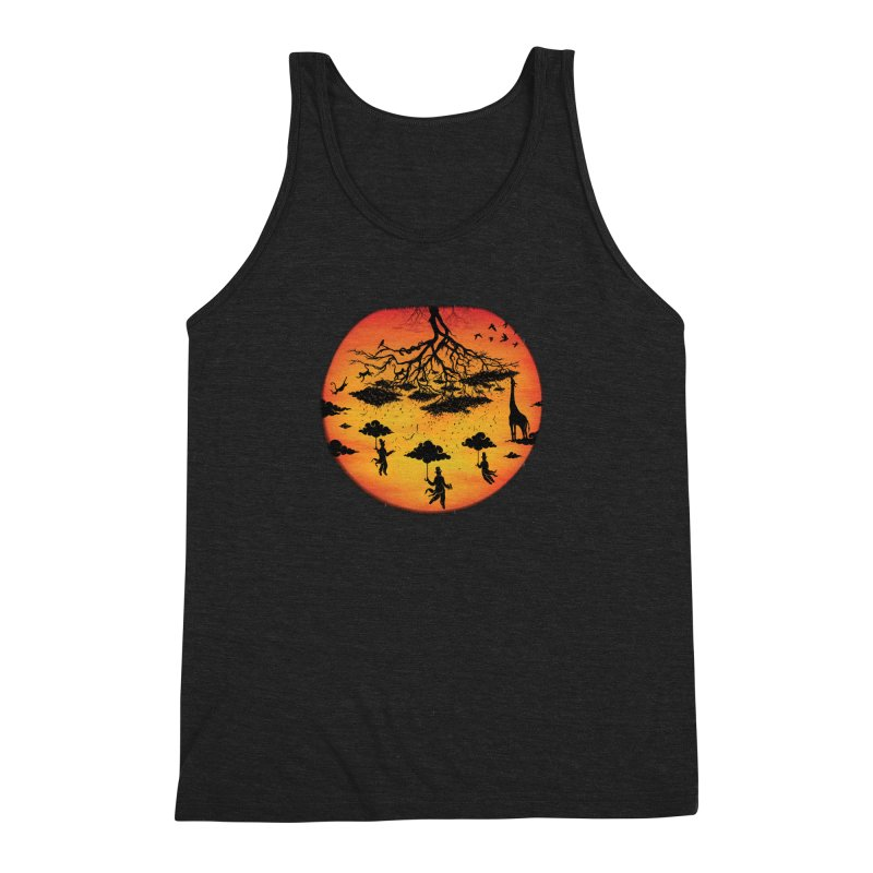 Sees The Day Men's Triblend Tank by Made With Awesome