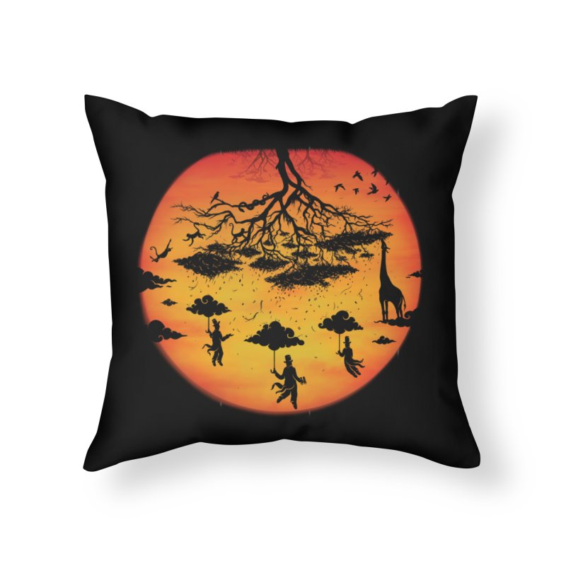 Sees The Day Home Throw Pillow by Made With Awesome