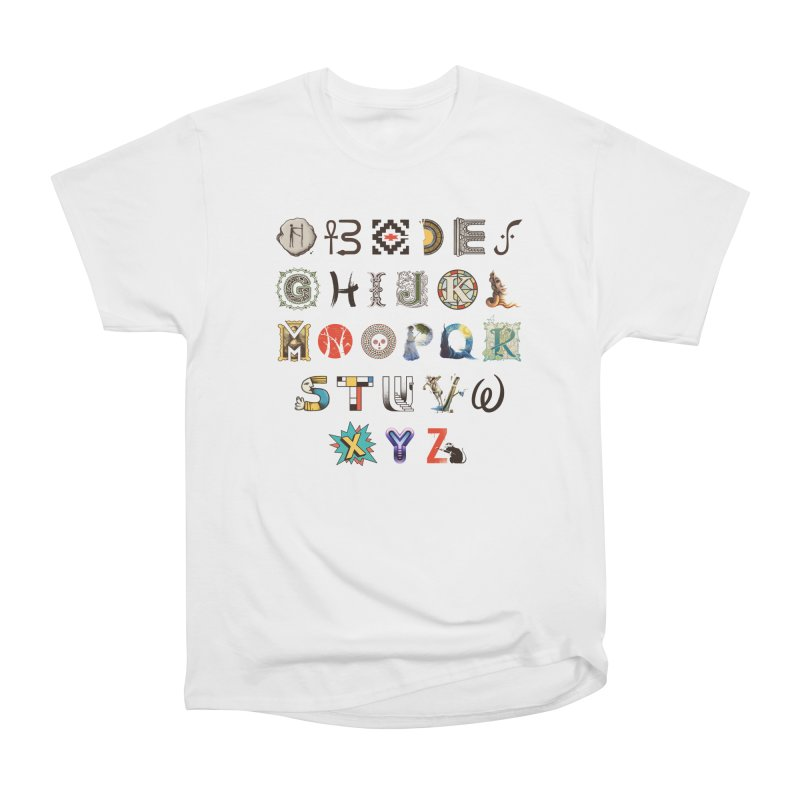 A-Z Art History Men's Heavyweight T-Shirt by Made With Awesome