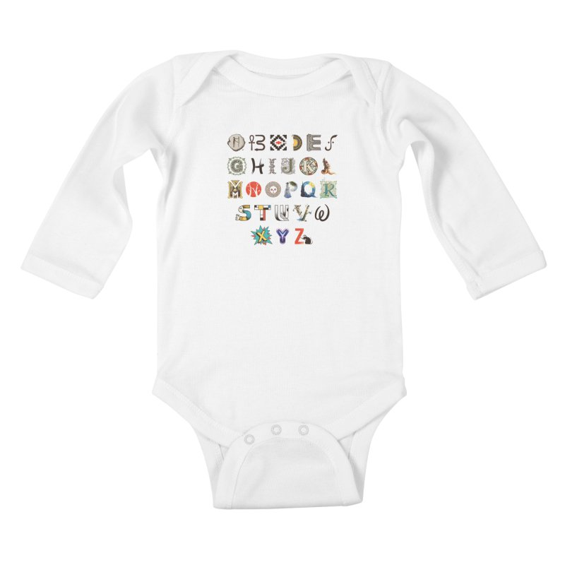 A-Z Art History Kids Baby Longsleeve Bodysuit by Made With Awesome