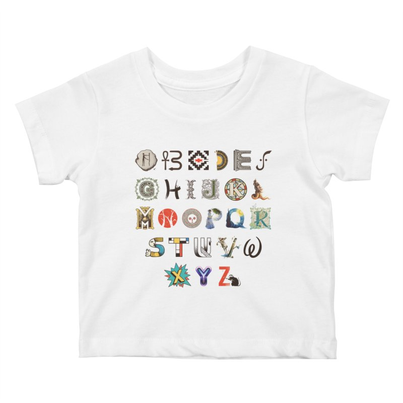A-Z Art History Kids Baby T-Shirt by Made With Awesome