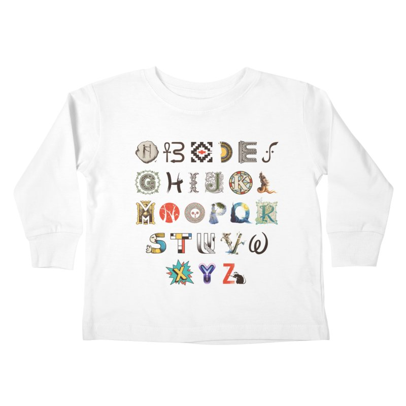 A-Z Art History Kids Toddler Longsleeve T-Shirt by Made With Awesome