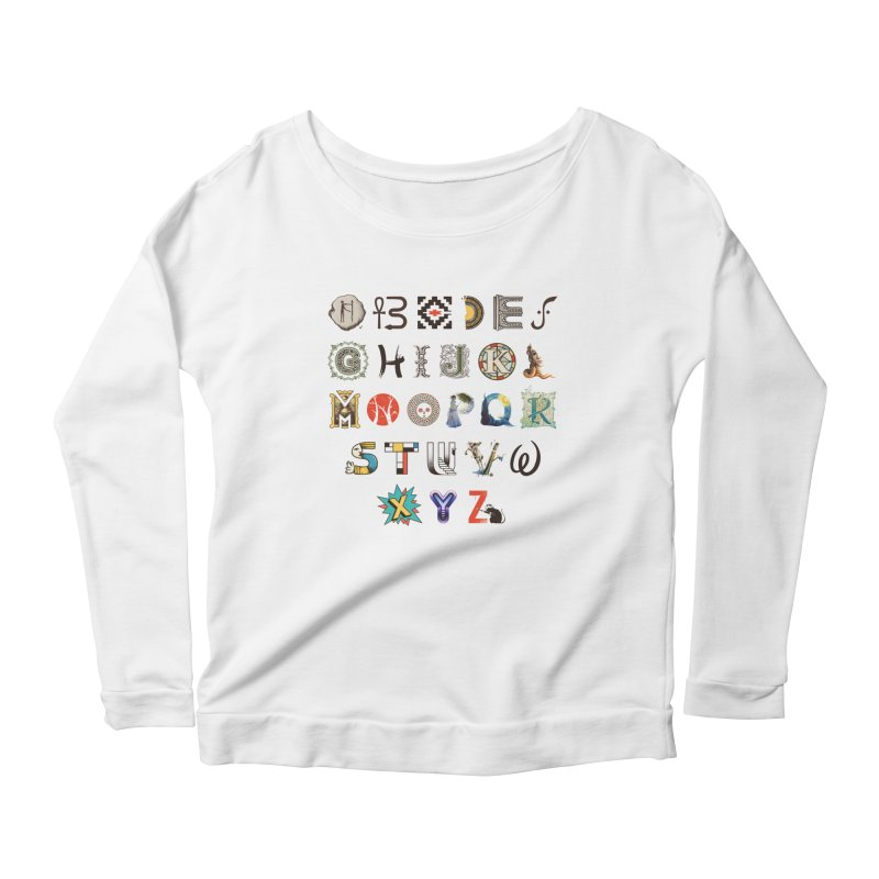 A-Z Art History Women's Scoop Neck Longsleeve T-Shirt by Made With Awesome