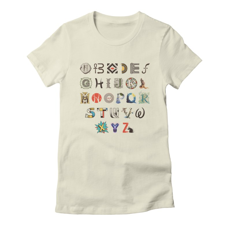 A-Z Art History Women's Fitted T-Shirt by Made With Awesome