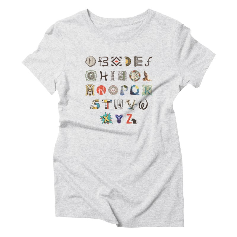 A-Z Art History Women's Triblend T-Shirt by Made With Awesome