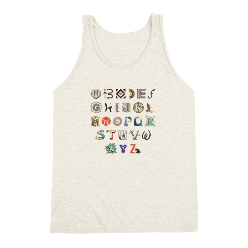 A-Z Art History Men's Triblend Tank by Made With Awesome