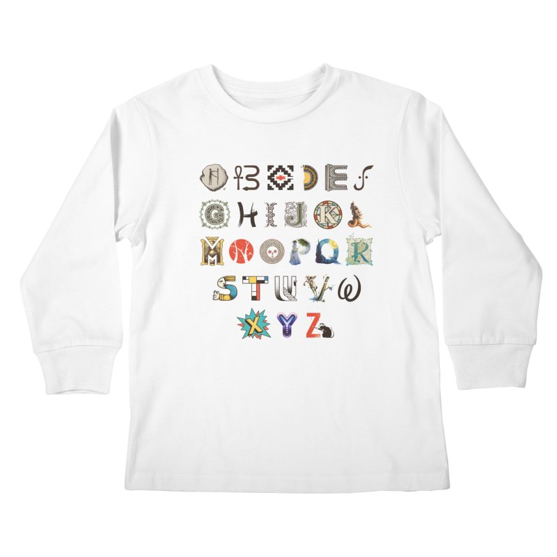 A-Z Art History Kids Longsleeve T-Shirt by Made With Awesome