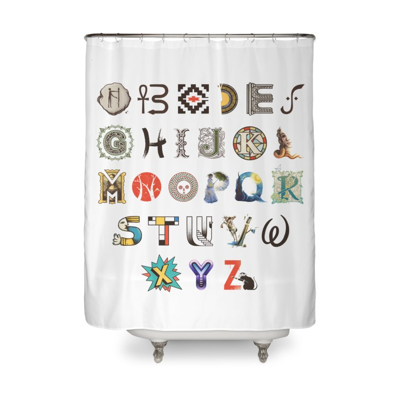 A-Z Art History Home Shower Curtain by Made With Awesome