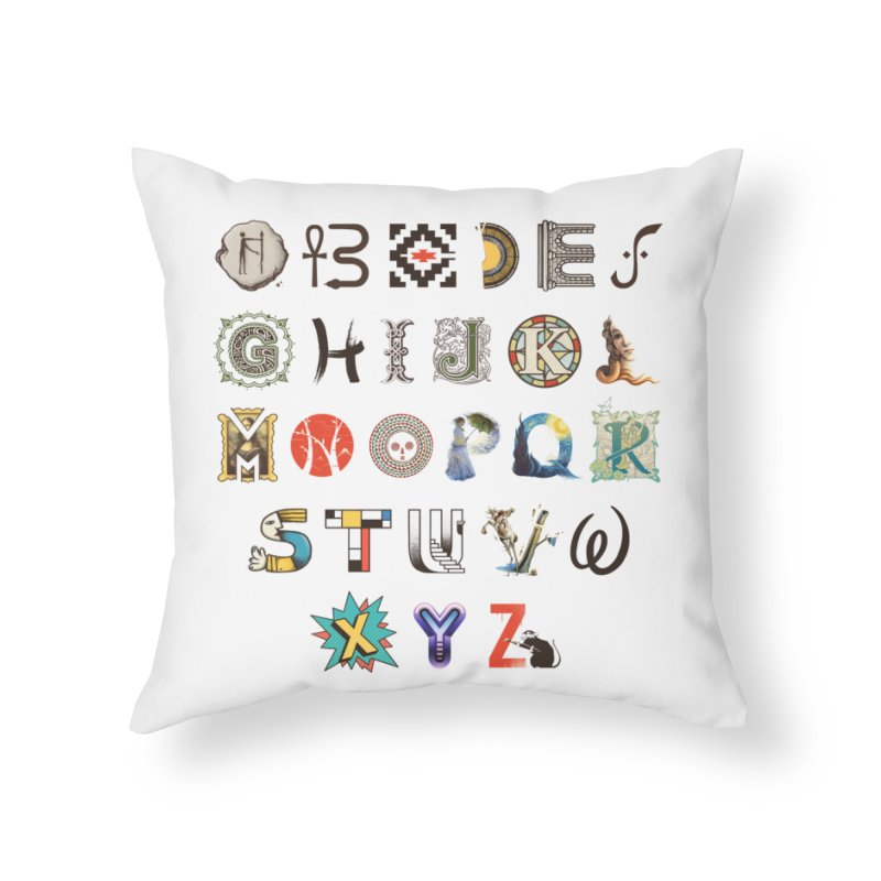 A-Z Art History Home Throw Pillow by Made With Awesome
