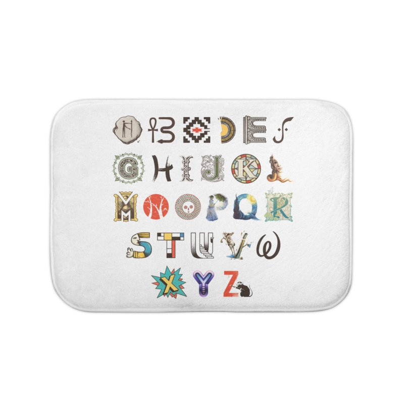 A-Z Art History Home Bath Mat by Made With Awesome