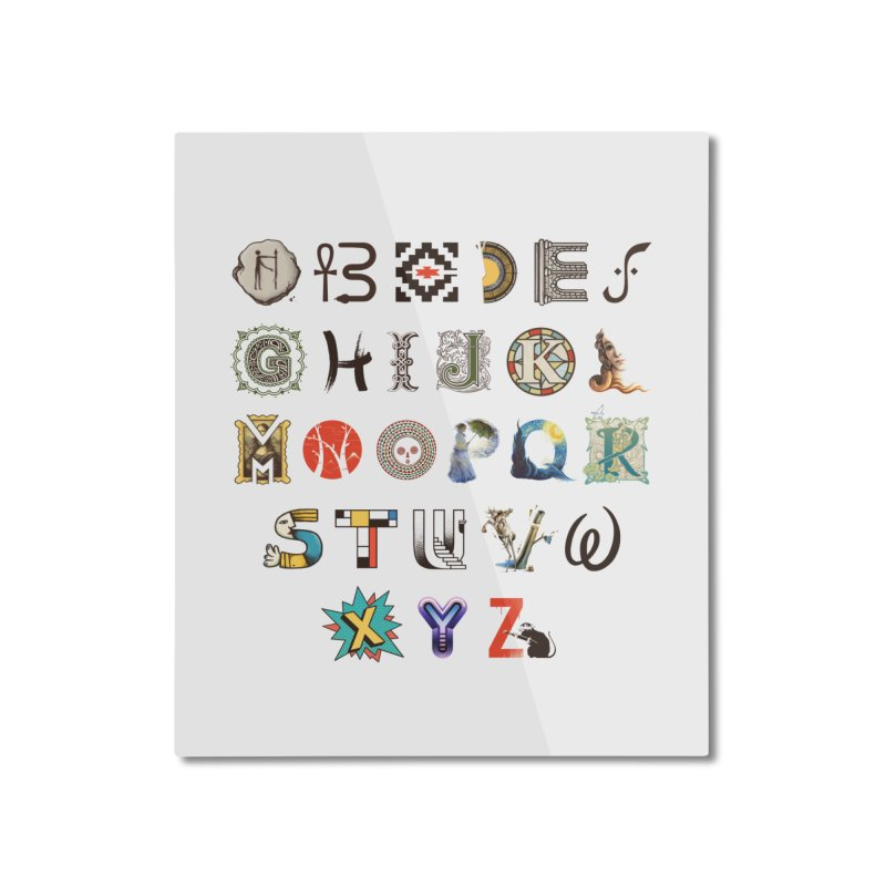A-Z Art History Home Mounted Aluminum Print by Made With Awesome