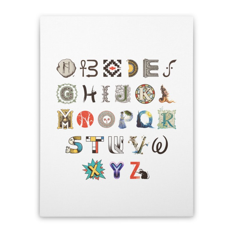 A-Z Art History Home Stretched Canvas by Made With Awesome
