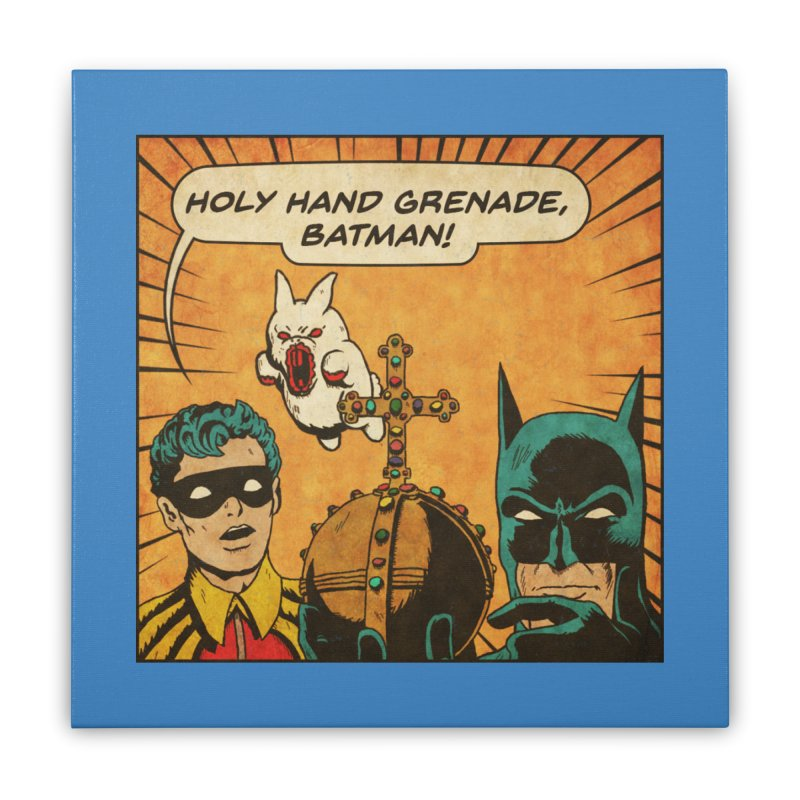 Gotham Grenade Home Stretched Canvas by Made With Awesome