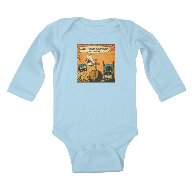 Gotham Grenade Kids Baby Longsleeve Bodysuit by Made With Awesome