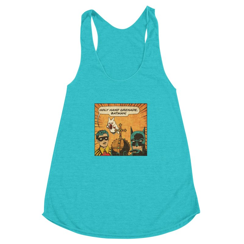 Gotham Grenade Women's Racerback Triblend Tank by Made With Awesome