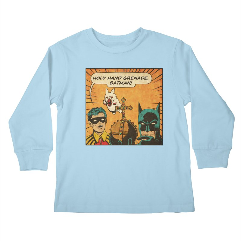 Gotham Grenade Kids Longsleeve T-Shirt by Made With Awesome