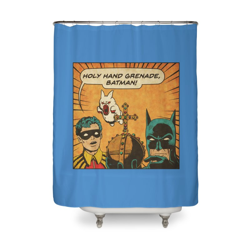 Gotham Grenade Home Shower Curtain by Made With Awesome