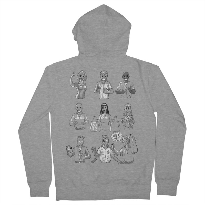 Sheeple Women's French Terry Zip-Up Hoody by Made With Awesome