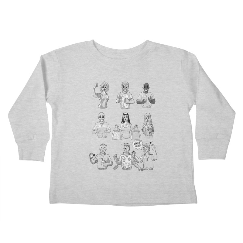 Sheeple Kids Toddler Longsleeve T-Shirt by Made With Awesome