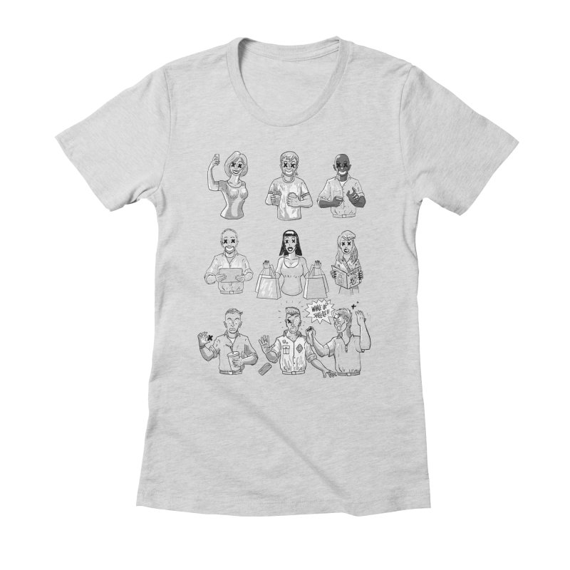 Sheeple Women's Fitted T-Shirt by Made With Awesome