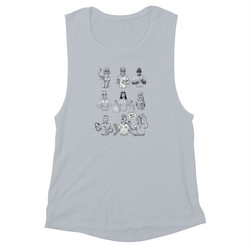 Sheeple Women's Muscle Tank by Made With Awesome