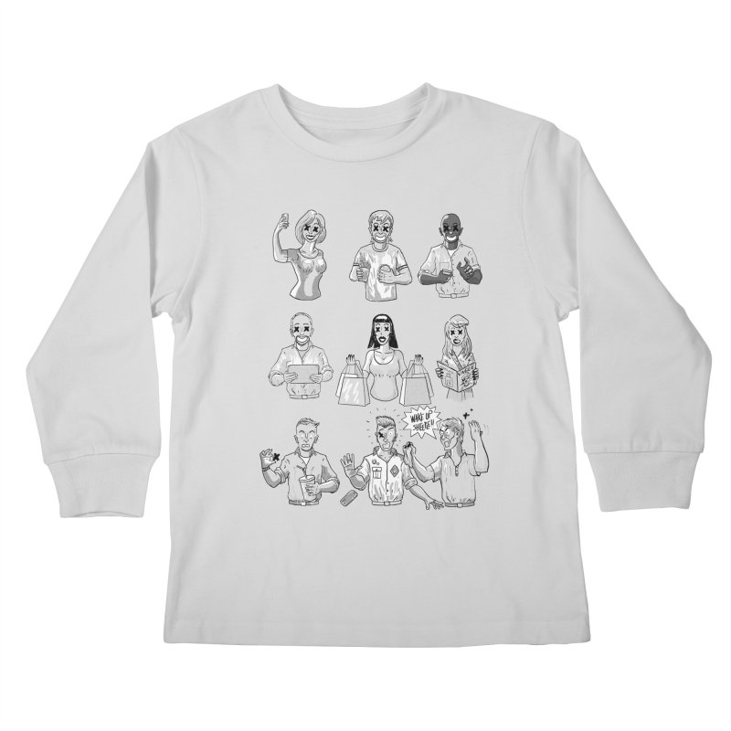 Sheeple Kids Longsleeve T-Shirt by Made With Awesome