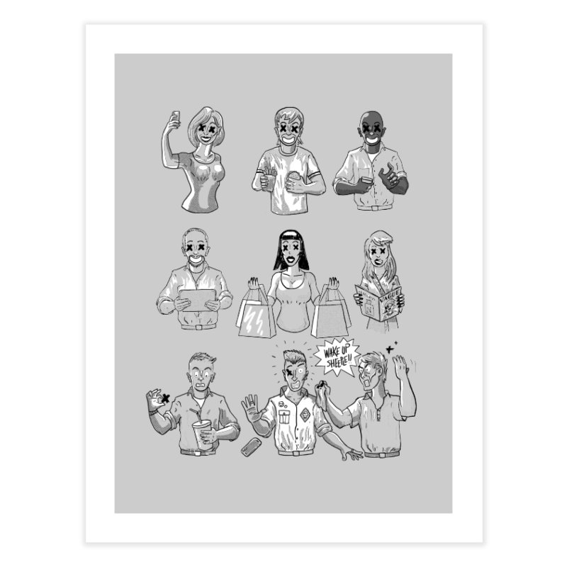 Sheeple Home Fine Art Print by Made With Awesome