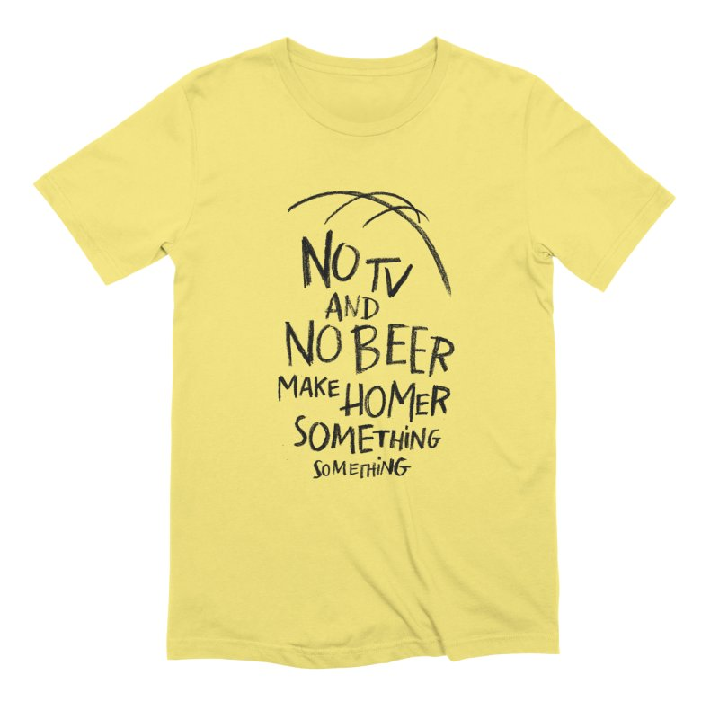 SOMETHING SOMETHING Men's T-Shirt by Made With Awesome