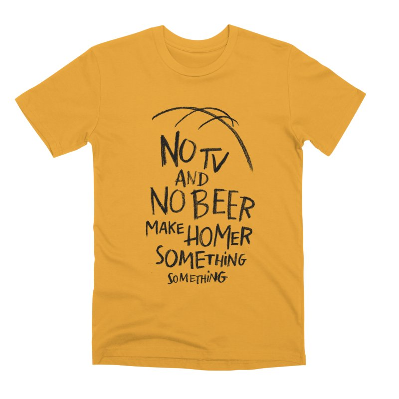 SOMETHING SOMETHING Men's Premium T-Shirt by Made With Awesome