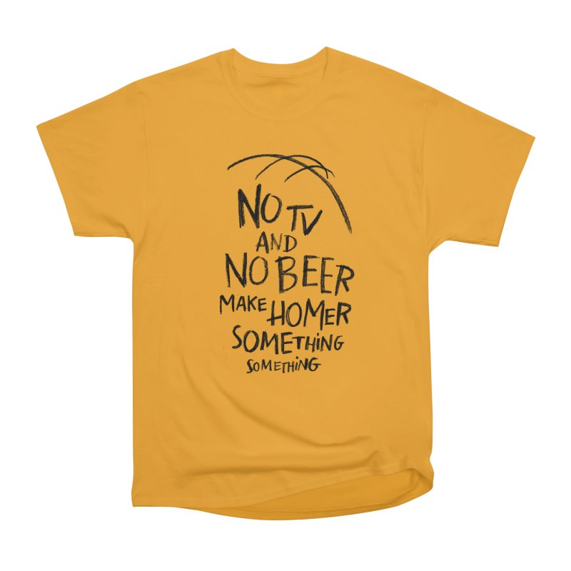 SOMETHING SOMETHING Women's Heavyweight Unisex T-Shirt by Made With Awesome