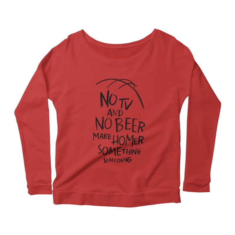 SOMETHING SOMETHING Women's Scoop Neck Longsleeve T-Shirt by Made With Awesome