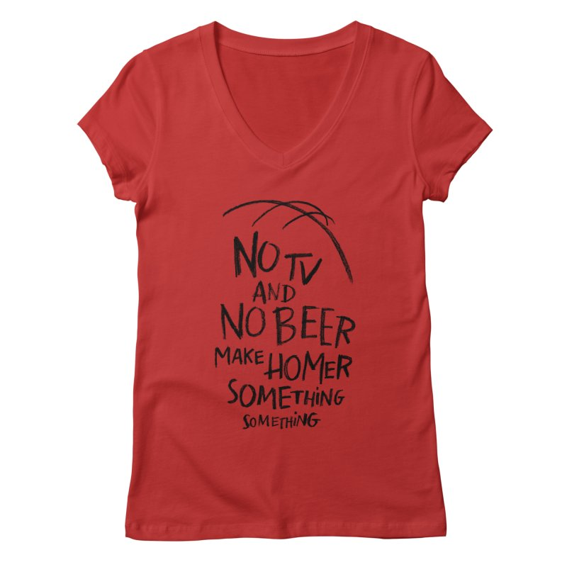 SOMETHING SOMETHING Women's Regular V-Neck by Made With Awesome