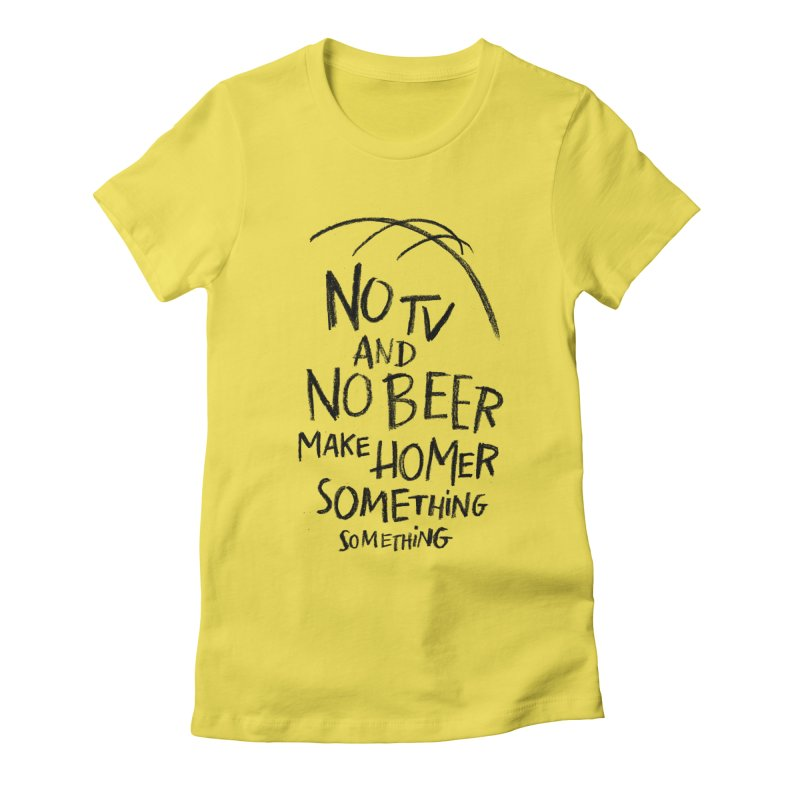 SOMETHING SOMETHING Women's Fitted T-Shirt by Made With Awesome