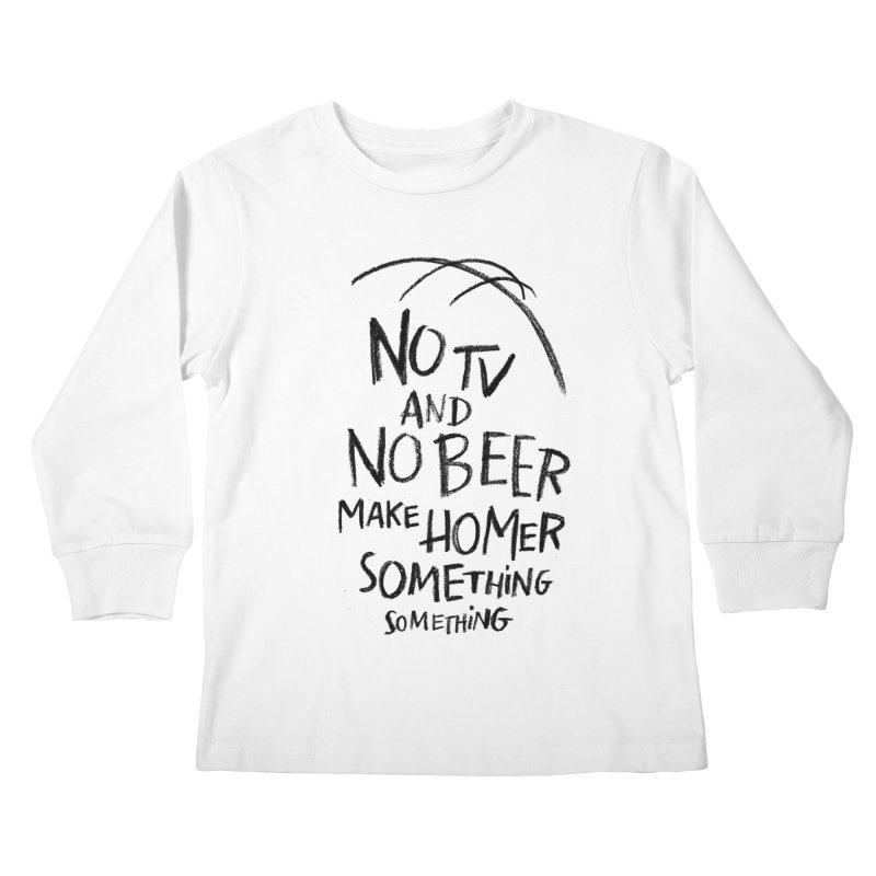 SOMETHING SOMETHING Kids Longsleeve T-Shirt by Made With Awesome