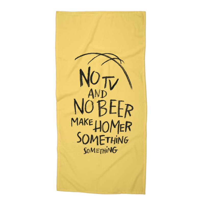 SOMETHING SOMETHING Accessories Beach Towel by Made With Awesome