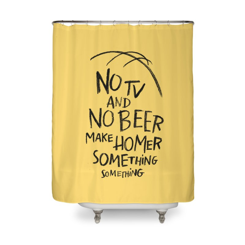 SOMETHING SOMETHING Home Shower Curtain by Made With Awesome